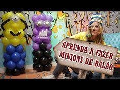 Como Fazer Minions de balão - YouTube