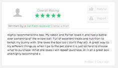 Another great review! Get your bun something to be super hoppy about!  #BunnyBox #Bunny #Awesome