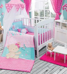 Juego de Cuna Osita Baby Crib Bedding, Baby Bedroom, Baby Cribs, Nursery Room, Baby Girl Elephant, Kit Bebe, Patchwork Baby, Baby Nest, Boy Quilts