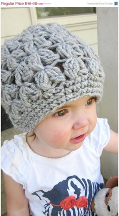 Jace totally needs a knit gray winter hat this year. Baby Clothes Blanket, Winter Baby Clothes, Knitted Baby Clothes, Baby Winter, Love Crochet, Crochet For Kids, Crochet Baby, Knit Crochet, Crochet Ideas