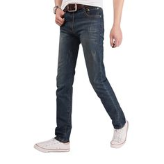 >> Click to Buy << jeans New fashion cotton men jeans good quality slim washed denim jeans men casual never outdate straight jeans size 29-36  #Affiliate