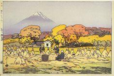 hanga gallery . . . torii gallery: Fujiyama, Autumn by Hiroshi Yoshida