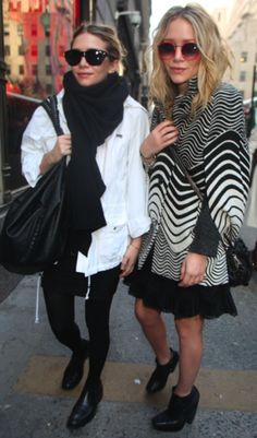 Love their style. Effortlessly chic ...and oh looks comfortable too.