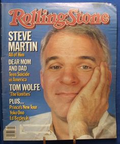 Rolling Stone Magazine Covers by Year | ROLLING STONE MAGAZINE - COVER ISSUE #434 1984 - STEVE MARTIN COVER