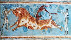 Escena de juego con toro, palacio de Cnosos