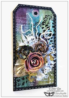 FRIENDS in ART: A Simple Mixed-Media Tag Tutorial for Finnabair Blog with Opal Magics and Structure Medium