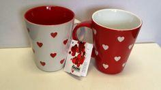 2 er Set große Kaffee - Tasse / Kaffeebecher Porzellan