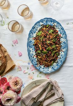 gingham tablecloths from Heather Taylor Home Couscous Salad, Lentil Salad, Picnic Foods, Picnic Recipes, Caper Berries, Vegetable Stock Cubes, Lentils And Rice, Friend Recipe