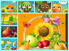 Le tournoi des fruits. Diaporama en rimes et jeu en ligne Ap French, French Kids, French Food, French Classroom, Teaching French, France, French Language, Fruit, Tournoi