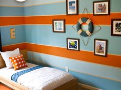 Zack said he wanted to paint his room orange when we asked... this could give him some orange in the room!