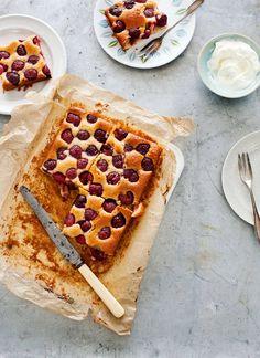 sticky cherry cake
