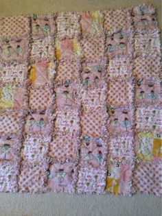 Baby Girl Rag Quilt  on Etsy, $55.97 CAD