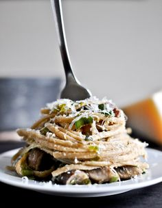 Portobello and Leek Carbonara pasta recipe