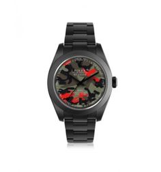 MAD Customized Watches Customized Rolex Milgauss Red Camo Dial Men's Watch