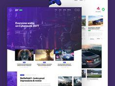 Game news site concept by Piotr Miłoszewski #Design Popular #Dribbble #shots
