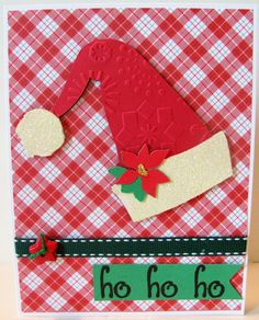 cards made with cricut joys of the season | second card, I used the Joys of the Season Cricut cartridge to make ...