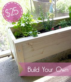 Build your own herb planter box for $25!