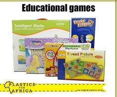 Let the kids have endless fun with our wide selection of educational games. Available from your nearest #PlasticsforAfrica branch. #SchoolHolidays