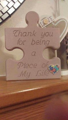 Puzzle piece sign Precisely what are Wedding Decoration Supplies? Puzzle Piece Crafts, Puzzle Art, Puzzle Pieces, Wood Projects For Kids, Craft Projects, Projects To Try, Wood Crafts, Diy And Crafts, Romantic Ideas