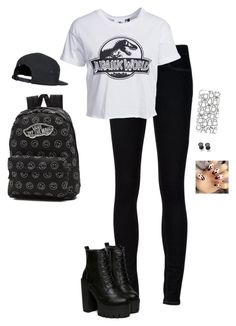 """""""Guess That Song!!"""" by hanakdudley ❤ liked on Polyvore featuring Ström, New Look, Vans, Topshop and Misbehave"""