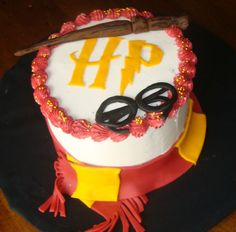Harry Potter wand and Glasses Birthday Cake