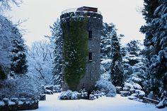 The Pepperpot Tower in Powerscourt Gardens, Enniskerry, County Wicklow. This photo was taken on a crisp winter day! www.powerscourt.ie