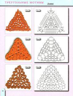 patrones crochet triangulares - Buscar con Google