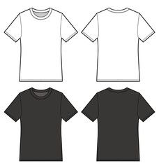 Download T Shirt Vector Illustration Flat Sketches Template Shirt Illustration T Shirt Design Template Clothing Sketches