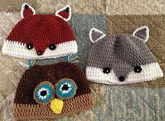 Messy Bun Woodland Hats...Crochet - Teen-Adult Size....