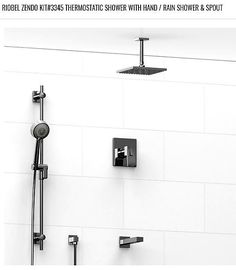 RIOBELu0027s Thermostatic Shower With Hand/ Rain Shower U0026 Spout. CEILING MOUNT.