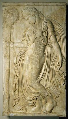 Relief of a bacchante, Roman copy of a Greek original, Ca. 120-140 CE Museo Nacional del Prado, On View in Room 72