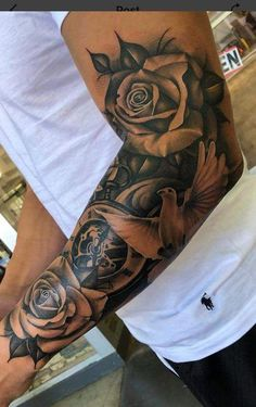Sleeve - Tattoo - - - tattoo old school tattoo arm tattoo tattoo tattoos tattoo antebrazo arm sleeve tattoo Forarm Tattoos, Forearm Sleeve Tattoos, Best Sleeve Tattoos, Tattoo Sleeve Designs, Tattoo Designs Men, Leg Tattoos, Black Tattoos, Body Art Tattoos, Men Tattoo Sleeves