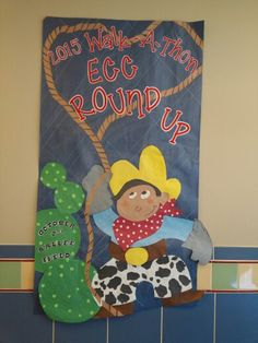 Cowboy round up bulletin board