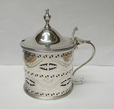Antique Silver Mustard Pot by Hester Bateman.c.1784.