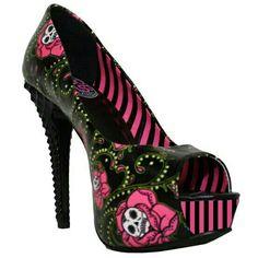 Dia De Los muertos heels