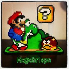 Mario perler beads by chr1spn