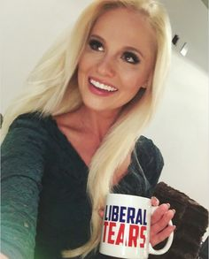 Anyone else think Tomi Lahren is looking more and more like Kellyanne Conway? Tomi Lahren, Liberal Tears, Best Selfies, New Woman, Most Beautiful Women, Sexy Women, T Shirts For Women, Long Hair Styles, Tees