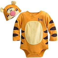 The wonderful thing about our Tigger Costume Bodysuit is that your baby will be the cutest lil' critter in the Hundred Acre Wood or anywhere else! Features a stuffed, self-stick removable tail and a matching hat with fuzzy-wuzzy ears!