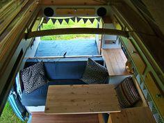 Table interior vw T3 T3 Vw, Volkswagen Bus, Diy Interior, Interior Design, Transporter T3, Cool Campers, Outdoor Furniture, Outdoor Decor, Van Life