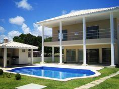 Casa 5 Suítes - Condomínio De Luxo - Casa de 5 Suítes em condomínio de luxo com lago privado e área completa de entretenimento. Linda casa localizada na Praia...