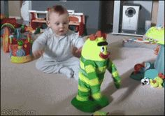 funny gifs, gifs of the week, baby rocks out