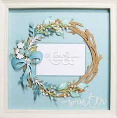 Creating with Christine: Flower Market Winter Wreath!