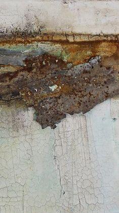 """Detail aus """"rostig am rhein"""" 100 x 50 cm"""