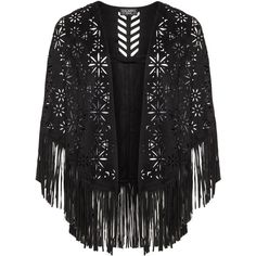 Via Appia Due Black Plus Size Fringed faux suede cut out cover-up ($90) ❤ liked on Polyvore featuring swimwear, cover-ups, black, plus size, sheer black cover up, crochet cover-up, black beach cover up and black swim cover up