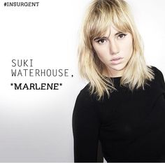 """Suki Waterhouse as """"Marlene""""< I'm meh about her casting"""