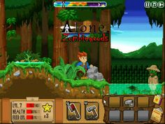 Play an awesome pixel RPG survival game - Alone: Zombiewoods, in which you have to explore the forest plenty of zombies, collect resources, farm and craft some useful stuff for survive. Games For Boys, Simulation Games, Alone, Arcade Games, Survival, Action, Play, Watch, Awesome