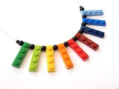 Upcycling Necklace play with me RAINBOW bright by ArohaJewelz