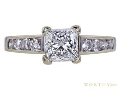 1.05 CT Princess Cut Solitaire Ring Sold at Auction for $2,362