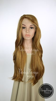 Honey Blonde Long Straight Lace Front Wig - Princess Series LP103