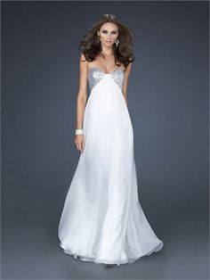 Glamourous Chiffon with Sequined Gathered Double Strap Back Chiffon Prom Dress PD10828 www.dresseshouse.co.uk $118.0000